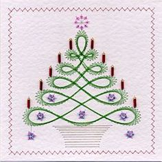 *FREE* Stitching on card embroidery pattern In The Garden, Happy