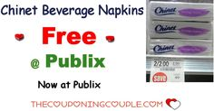 *HOT* Free Chinet Napkins @ Publix Now.  I am not sure when the sale ends, so Print your coupons NOW to get in on this deal while they are on sale!  Click the link below to get all of the details ► http://www.thecouponingcouple.com/free-chinet-napkins-publix-now/ #Coupons #Couponing #CouponCommunity  Visit us at http://www.thecouponingcouple.com for more great posts!