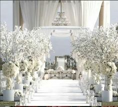 All White Outdoor Wedding