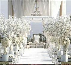 All White Outdoor Wedding