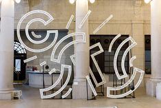 Studio Spass' Interactive Typographic Sculptures Take Type Design to the Next Level - Gibby Anselmi Wayfinding Signage, Signage Design, Typography Design, Branding Design, Typography Poster, Interaktives Design, Display Design, Graphic Design, Logo Design