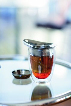 Bodum YoYo Personal Tea Set with Infuser and 12-Ounce Glass