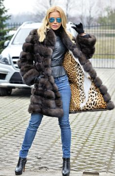 sable furs - new natural barguzin russian sable fur coat