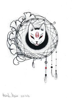 9 Tailed Kitsune Tattoo Kitsune mask tattoo mask by Japanese Fox Mask, Japanese Art, Girly Tattoos, Body Art Tattoos, Mascara Anime, Kitsune Mask, Mask Drawing, Mask Tattoo, Japan Tattoo