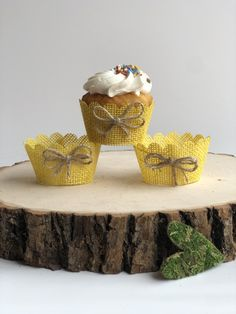 Excited to share this item from my #etsy shop: Yellow Real Burlap cupcake wrappers, rustic cupcake wrappers, wedding cupcake wrappers, cupcake holders, rustic cupcake wraps, vintage. Burlap Cupcakes, Rustic Cupcakes, Elegant Cupcakes, Wedding Cupcakes, Cupcake Wraps, Cupcake Liners, Cupcake Holders, Cake Tower, Easy Party Food