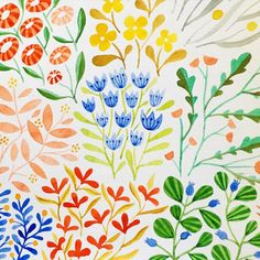 kirsten sevig  #illustratorinminneapolis #watercolor #painting #patterns…