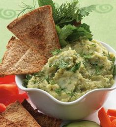 Lima Bean Spread with Cumin & Herbs!! Healthy and filling snack!!! |eatingwell.com