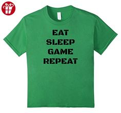 Kids Eat Sleep Game Repeat Funny Sarcasm Video Game Slogan Shirt 6 Grass (*Amazon Partner-Link)