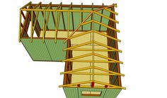 L-shaped shed roof There are lots of points that can easily as a final point Garage Workshop Plans, Workshop Shed, Timber Roof, Metal Roof, Dormer Roof, Casas Containers, Roof Detail, Shed Roof, Garden Deco