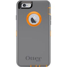 Rugged iPhone 6 Case | Defender Series by OtterBox orange and grey