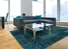 Update your décor with a chic teal/gray over-dyed area rug with washed shading and a subtle Oriental pattern that enhances the look of any room. Measured at 5 x this quality transitional rug is stylish, durable, and remarkably easy to care for. Carpet Sale, Cheap Carpet, Modern Area Rugs, Contemporary Area Rugs, Contemporary Style, Rooms To Go Rugs, Room Rugs, Inexpensive Rugs, Transitional Area Rugs
