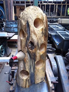 Drift wood wine bottle holder! Made by dragon-mill furniture