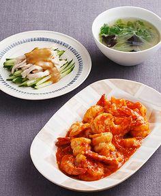 洋食・中華おかずの基本:3月のメニュー || ベターホームのお料理教室 ・クロスこういう色は赤も緑も映える