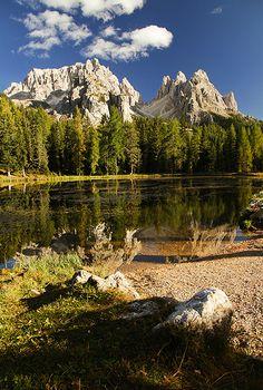 Lago d'Antorno & Cadini, Dolomites, Italy  ~ UNESCO World Heritage Site