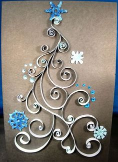 Quilled Christmas Tree: this would be a great paper quilling pattern for a Christmas card. Description from pinterest.com. I searched for this on bing.com/images