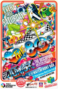 I Love The '80s flyer.