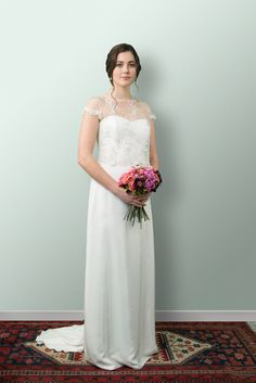 Our bridal collection has been designed for brides who delight in simplicity, beautiful fabrics, feminine silhouettes, and classic details. Wedding Dress Styles, Bridal Dresses, Dress Picture, Lace Bodice, Bridal Boutique, Silk Satin, Bridal Collection, Vintage Inspired, Feminine