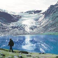 Svartisen Glacier. Norway's second largest glacier.