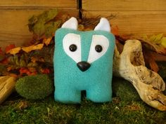 Fox Nubbin  Aqua Turquoise Blue  Made To Order by KiraArts on Etsy, $16.00