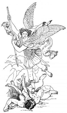Michael archangel drawing archangel by manveruon lineart for Archangel michael coloring page