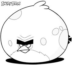 Printable Cartoon Angry Birds Coloring Sheets For Kids Girls