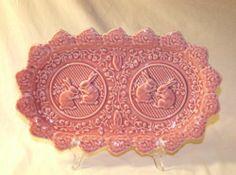 Bordallo Pinheiro Rabbit Pink Rectangular Platter Easter Bunny Dish Mint   eBay