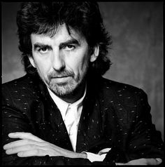 George Harrison photographed by Chris Cuffaro for Musician magazine