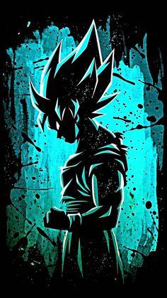 Dragon Ball Image, Dragon Ball Gt, Blue Dragon, Foto Do Goku, Goku Wallpaper, Animes Wallpapers, Iphone Wallpapers, Otaku, Graffiti Wallpaper Iphone