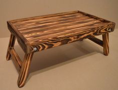 Wood laptop table or Breakfast in bed tray.  Natural wood. Ready to ship.  It can be used as a table for breakfast in bed, and as a table for a laptop.