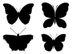 sagome di farfalle – butterflies sillhouettes