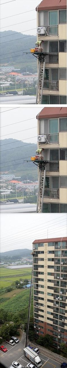 Found a way to speed up highrise moves in Vegas. Think OSHA will approve?