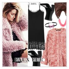 """""""Wow Factor: Faux Fur"""" by teoecar ❤ liked on Polyvore featuring Lauren Conrad, STELLA McCARTNEY, Skinnydip and fauxfur"""