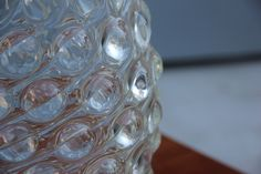 This optical glass vase was designed by Flavio Poli for Seguso.
