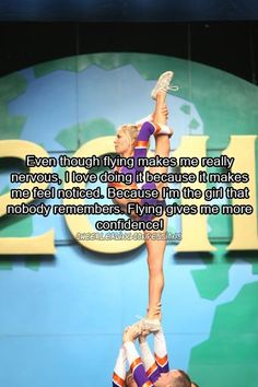 Here's for you cheerleaders out there. And to anyone that doesn't think cheerleading is a sport should go turn on COMPETITIVE CHEER.    GDTBAA || www.greatdaytobeanathlete.tumblr.com