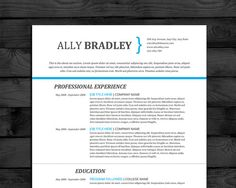modern professional resume template easy to edit in word 3 pages with cover letter
