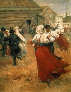 poboh:    Country Festival 1890s, Anders Leonard Zorn. Swedish (1860 - 1920)