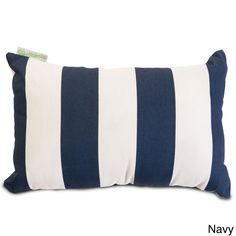 Indoor/Outdoor Majestic Home Goods Vertical Stripe Small Pillow | Overstock™ Shopping - Big Discounts on Majestic Home Goods Outdoor Cushion...