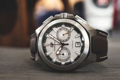 Girard-Perregaux Chrono Hawk,  GP gets overlooked sometimes, I think, especially when it comes to sports watches and chronos like this one.  That's too bad, because GP makes some of the coolest, most technologically advanced sport watches on the planet.  $13,800 in stainless steel.