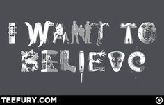 Awesome T-shirt for fans of the X-files.