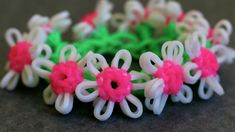 Requested Video:  Daisy Chain on One Rainbow Loom tutorial by Yarn Journey.
