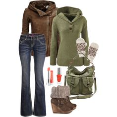 Earth tones winter outfit