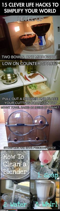 First, I've done,  the second, I clean my drawers enough, the third, clever, and the fourth, why didn't I think of this!