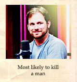 Ryan. Most likely to kill a man and be completely adorable while he's at it!