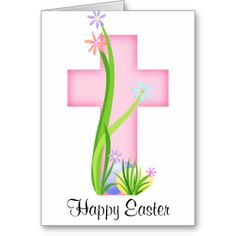 Pink Cross with Easter Eggs Greeting Card ......... http://www.zazzle.com/pink_cross_with_easter_eggs-137537333454859960?rf=238631258595245556