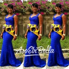 afrikanischer druck BellaNaija Weddings presents Vol. 193 The Latest Aso Ebi Styles African Dresses For Women, African Print Dresses, African Attire, African Wear, African Women, African Prints, African Outfits, Ankara Stil, Latest Aso Ebi Styles