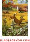 Leaping Deer Garden Flag Deer Garden, Garden Flags, House, Painting, Art, Art Background, Haus, Painting Art, Kunst