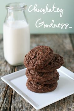 Chocolate Peanut Butter Cookies  http://www.mybakingaddiction.com/chocolate-cookies-with-peanut-butter/
