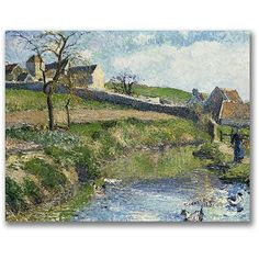 trademark-fine-art-the-farm-at-osny-canvas-wall-art-by-camille-pissaro_5114314.jpg (450×450)