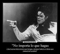 Carteles Michael Jackson. Frases célebres.