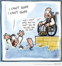 wheelchair humor.>>> See it. Believe it. Do it. Watch thousands of spinal cord injury videos at SPINALpedia.com